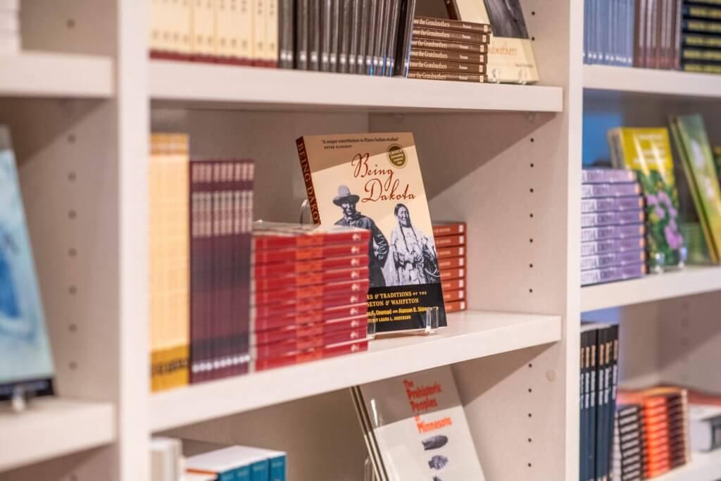 Books on shelf at Hocokata Ti gift shop